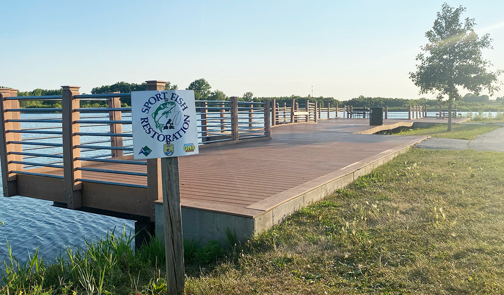 ADA-accessible fishing pier