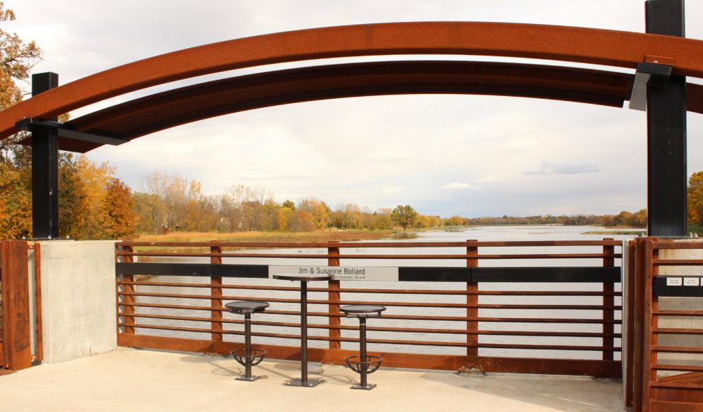 Bridge overlook in Des Moines area