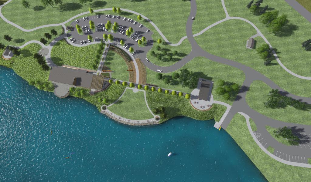 3D rendering of park