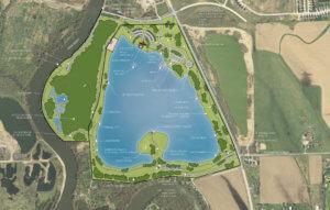 Master plan of park