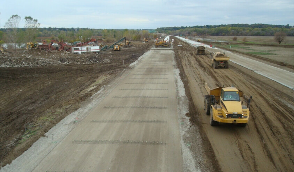 Emergency roadway repair on an I-680 ramp that was severely damaged by flooding in spring 2011.
