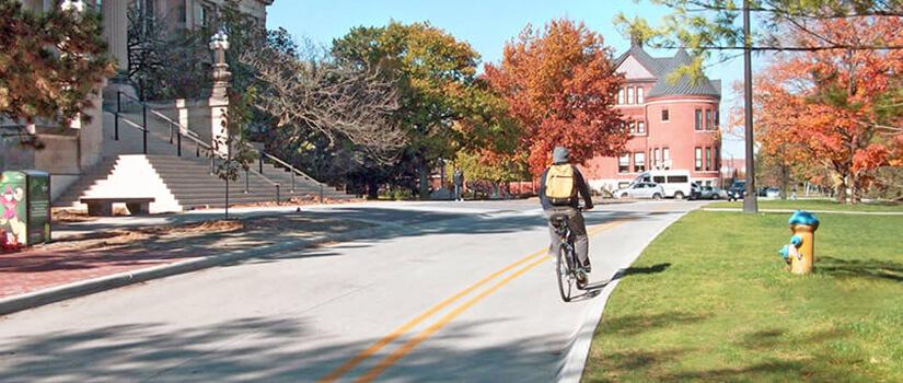 Contraflow bike lanes support multimodal transportation.