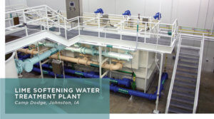 Equipment and machinery inside a Water Treatment Plant