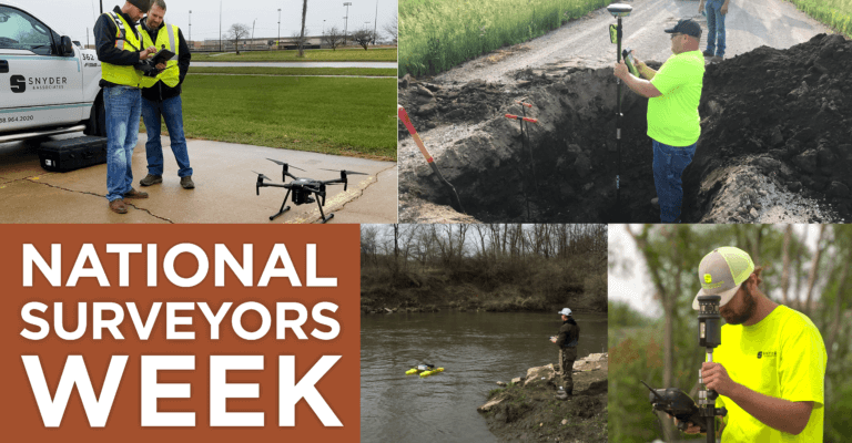 National surveyors week collage of Snyder and Associates survey employees