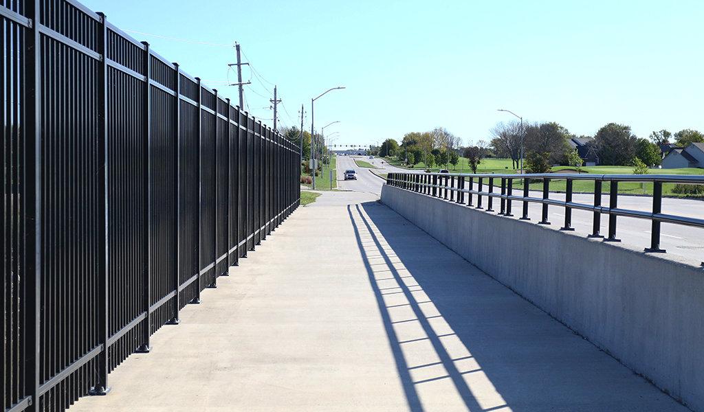 Metal beam bridge in iowa
