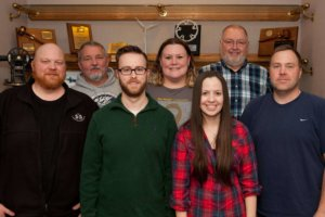 group of shuck-britson and snyder & associates employees recognized for 5+ years of work