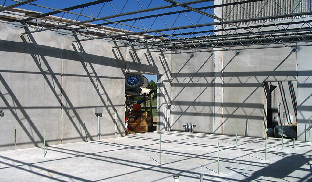 construction of new chemical feed room with no roof