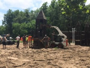 Demolition of the Council Bluffs Dream Playground