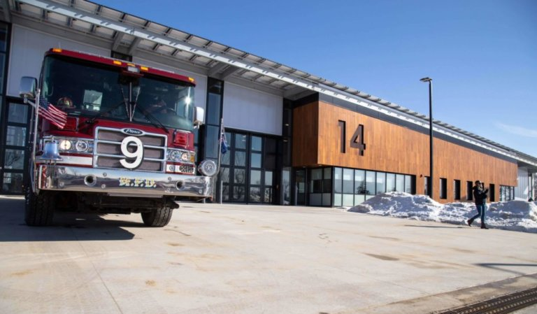 Newly renovated front of Station 14