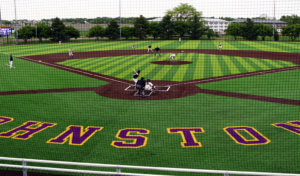 wide view of new baseball facility during game