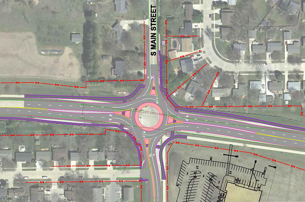 Renderings of roundabout plans