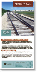 Screenshot thumbnail of freight rail engineering brochure.