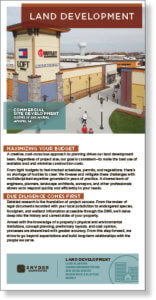 Screenshot thumbnail of land development engineering brochure.