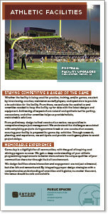 Screenshot thumbnail of athletic facility design brochure.