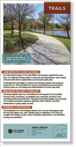 Screenshot thumbnail of trail design brochure.