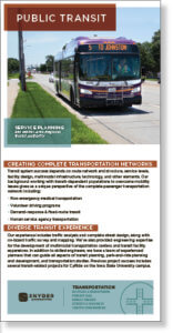 Screenshot thumbnail of urban transportation planning brochure.