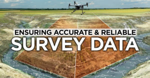 graphic of drone surveying strem
