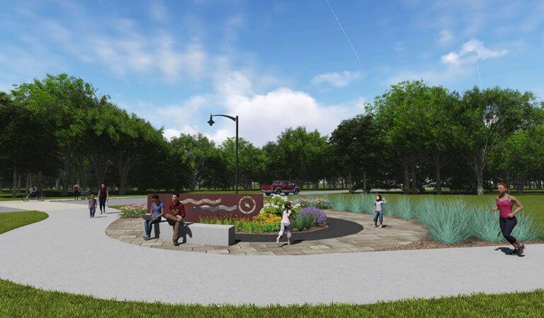 Northwest River District proposed park improvements.