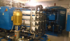 blue and white reverse osmosis system to remove PFAS