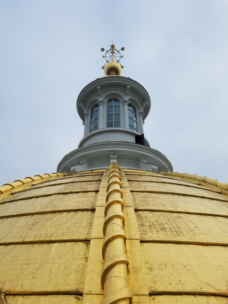 top of gold capital dome
