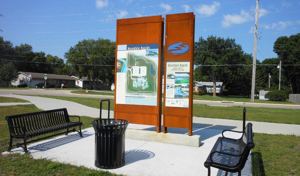 large park signage