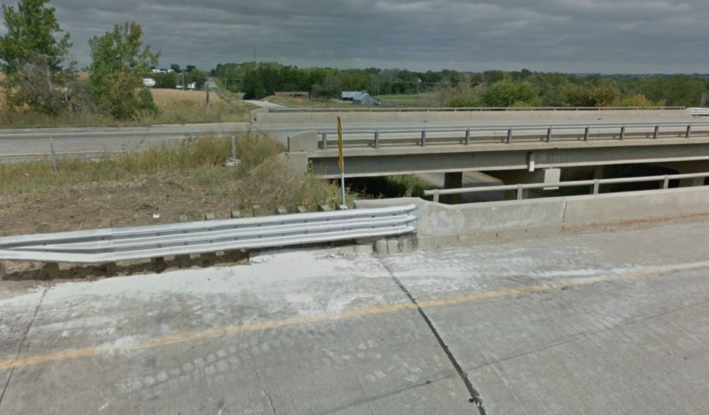 new metal guardrails placed along interstate