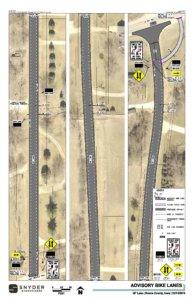 snyder & associates rendering of bike lanes