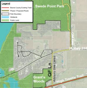 map of proposed bike lane pathways