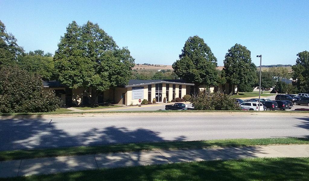 a new dialysis center along a roadway