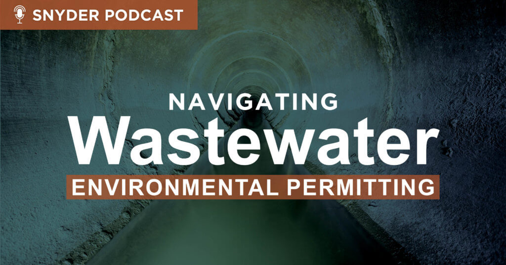 podcast graphic for navigation wastewater environmental permitting