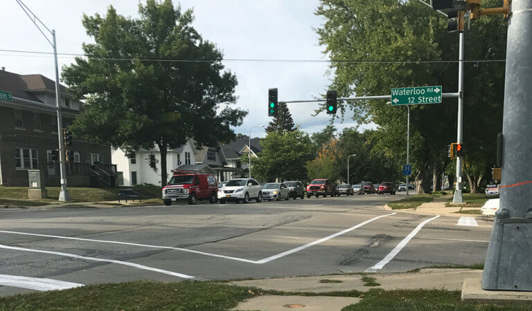 green light intersection at 12th street