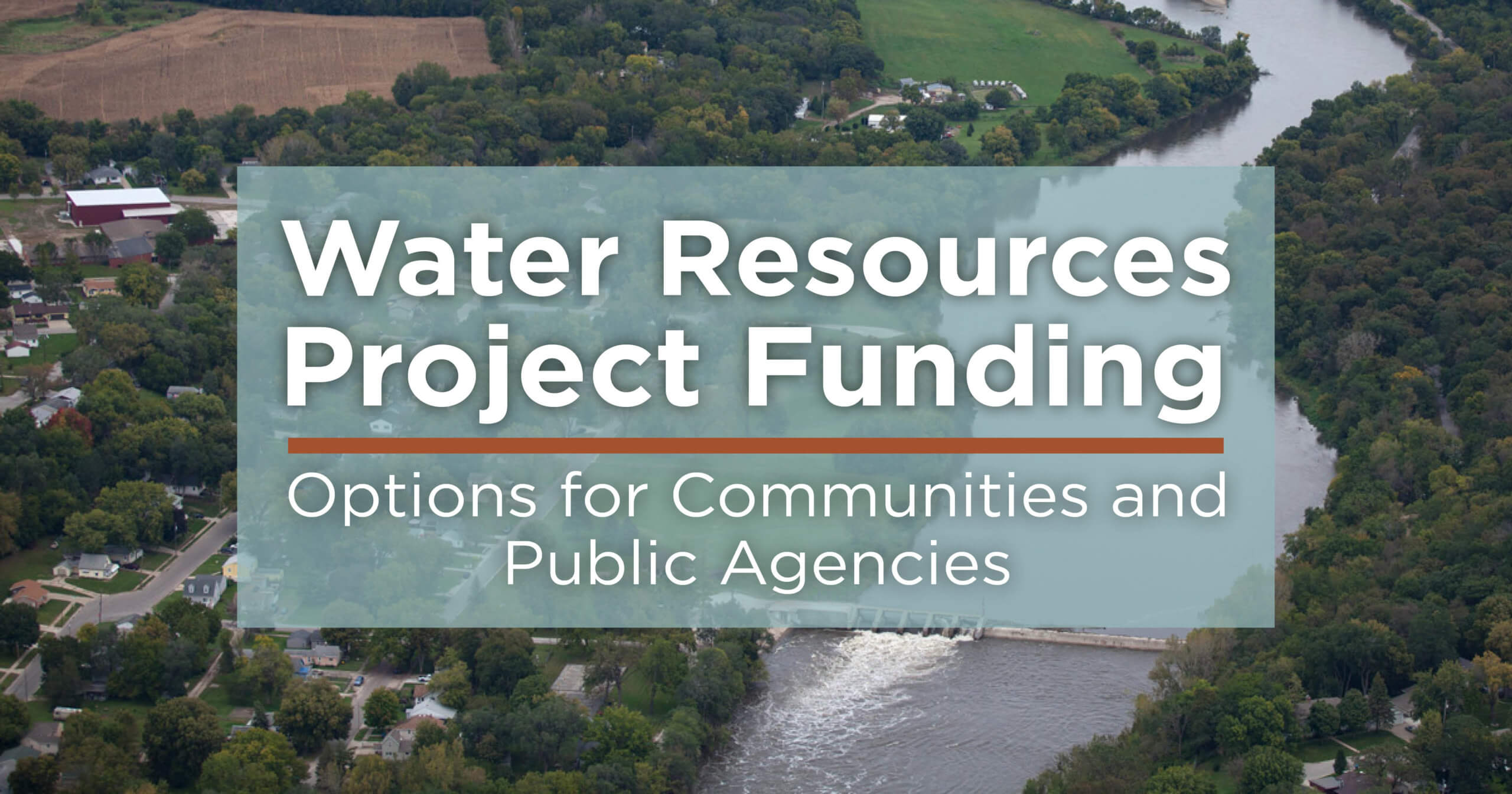 water resources project funding options for communities and public agencies