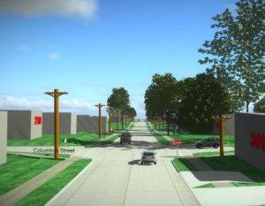 rendering of roadway