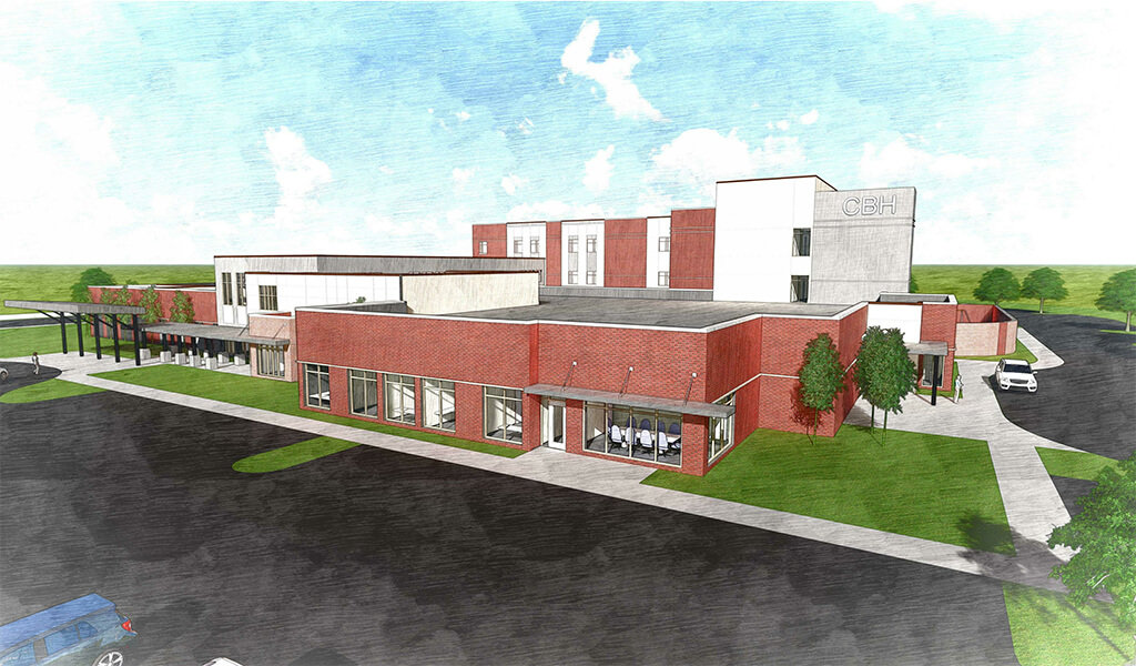 water color rendering of building
