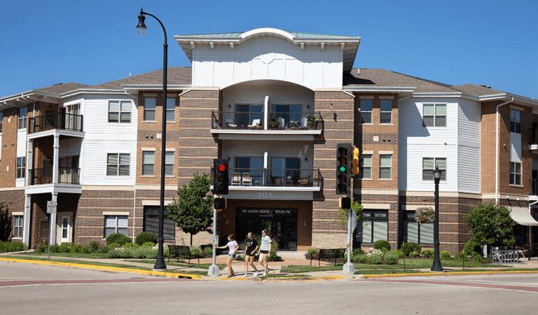 balconies of apartment building