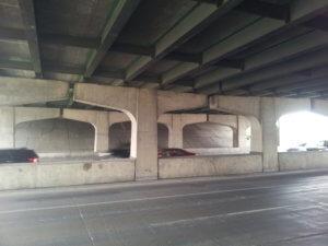archways under overpass