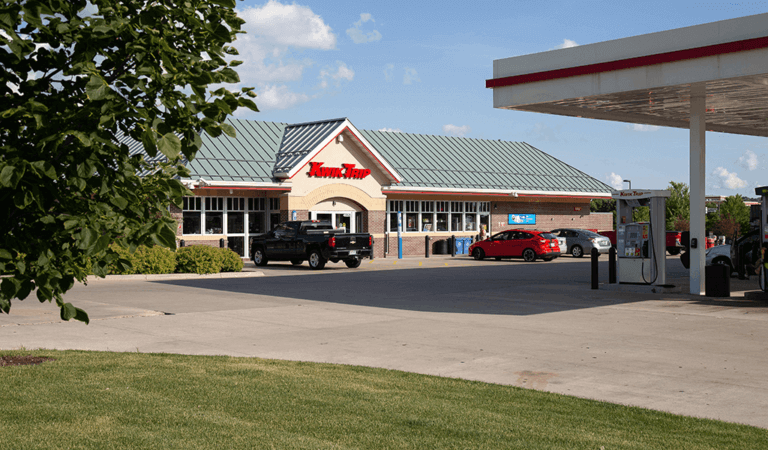 front entrance of kwik trip gas station