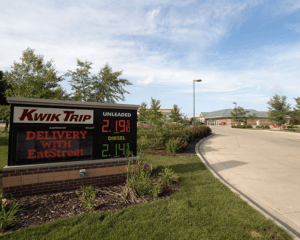 kwik trip gas price sign