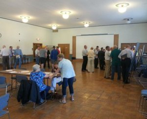 many older citizens attending public engagement meeting