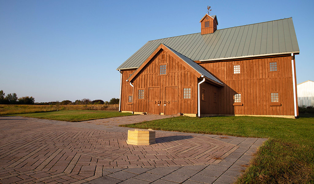 large wood barn