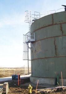metal ground storage water tank