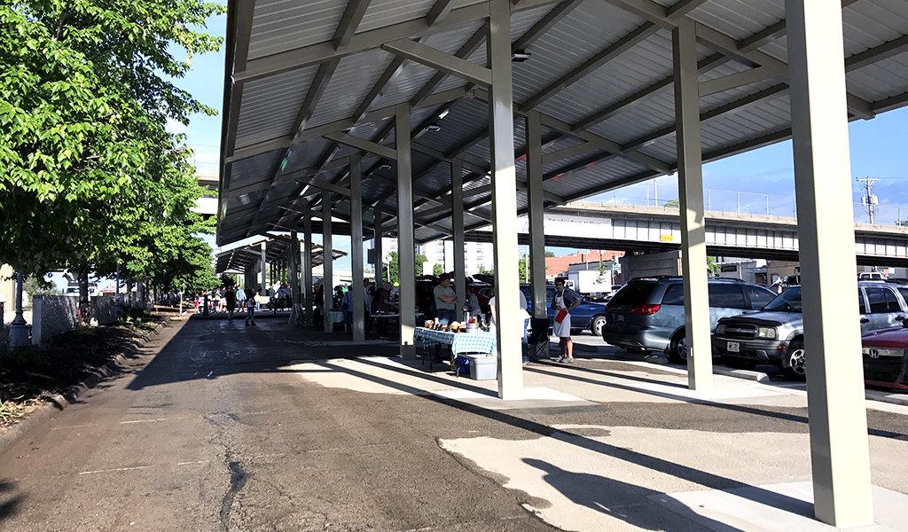 metal pavilion housing farmers market