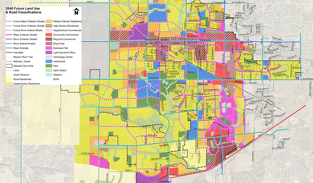 multicolored roadway map
