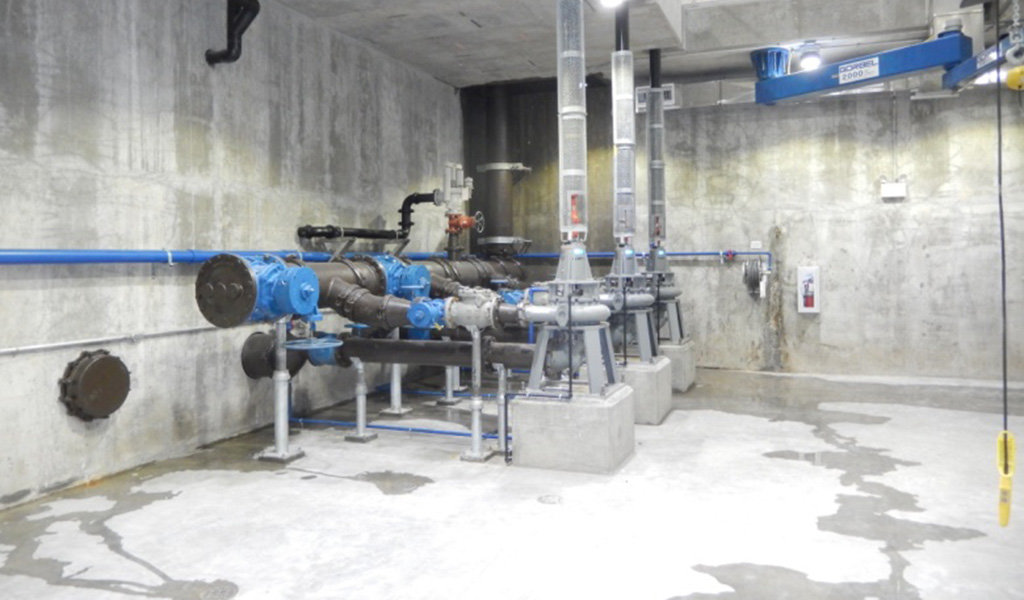 multiple pumps in cement room