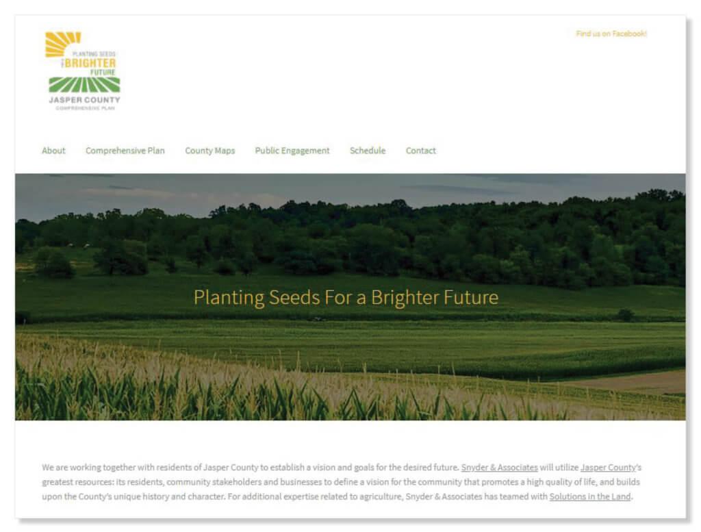 screenshot of jasper county website