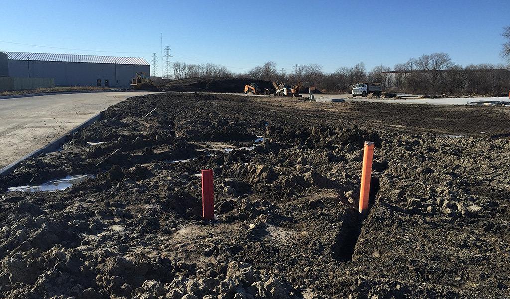 Plot addition construction at Albaugh industrial park in Ankeny, IA.