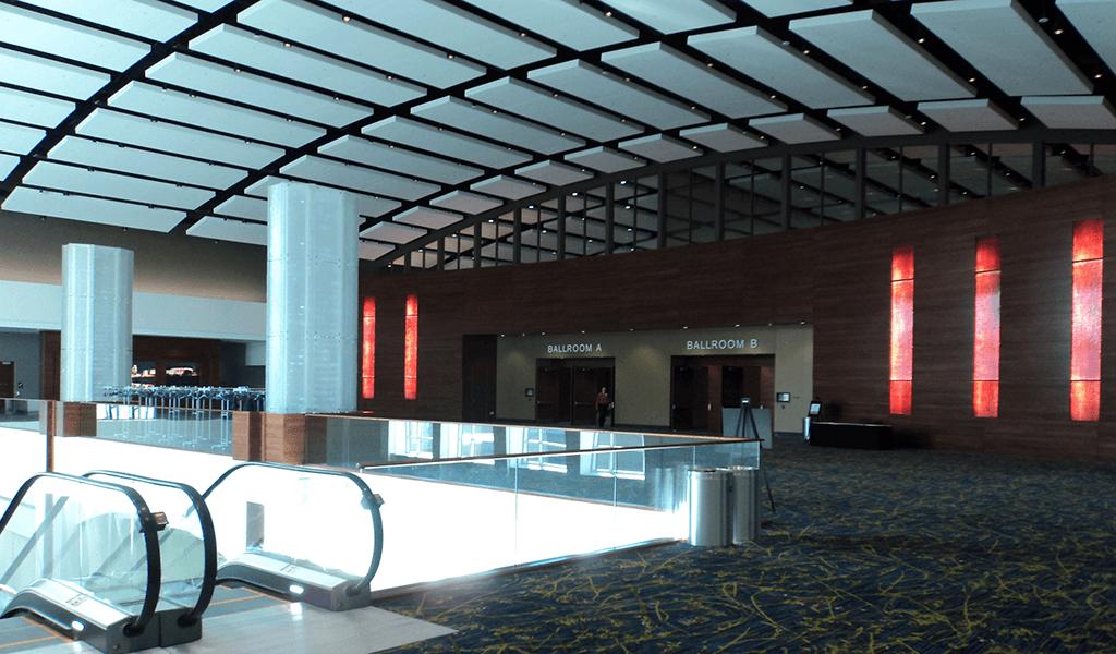 escalator up to ballroom area