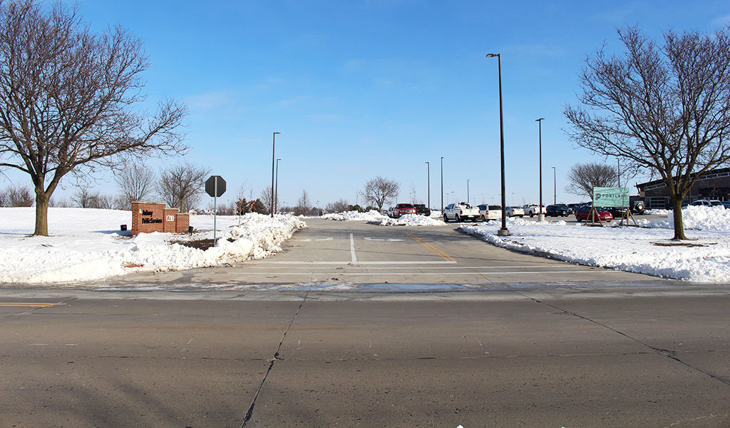 street entrance to new ankeny public services building