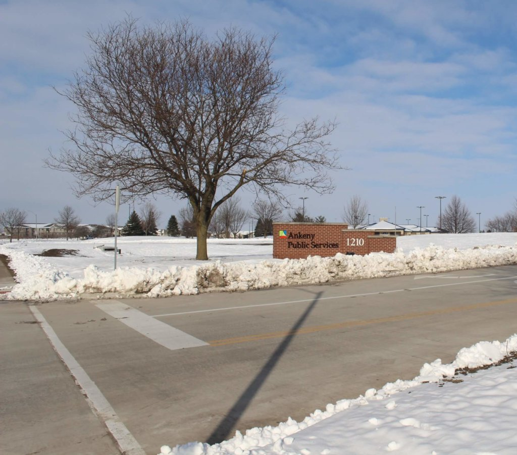 entrance to new ankeny public services building