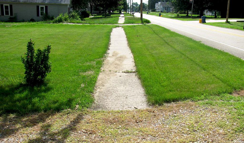 non-compliant sidewalk